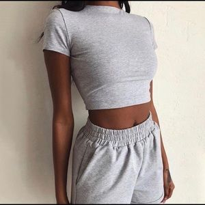 Pants - Brand new women's casual gray 2 piece set size L